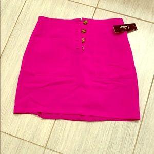 NWT Lulus fuschia pink skirt